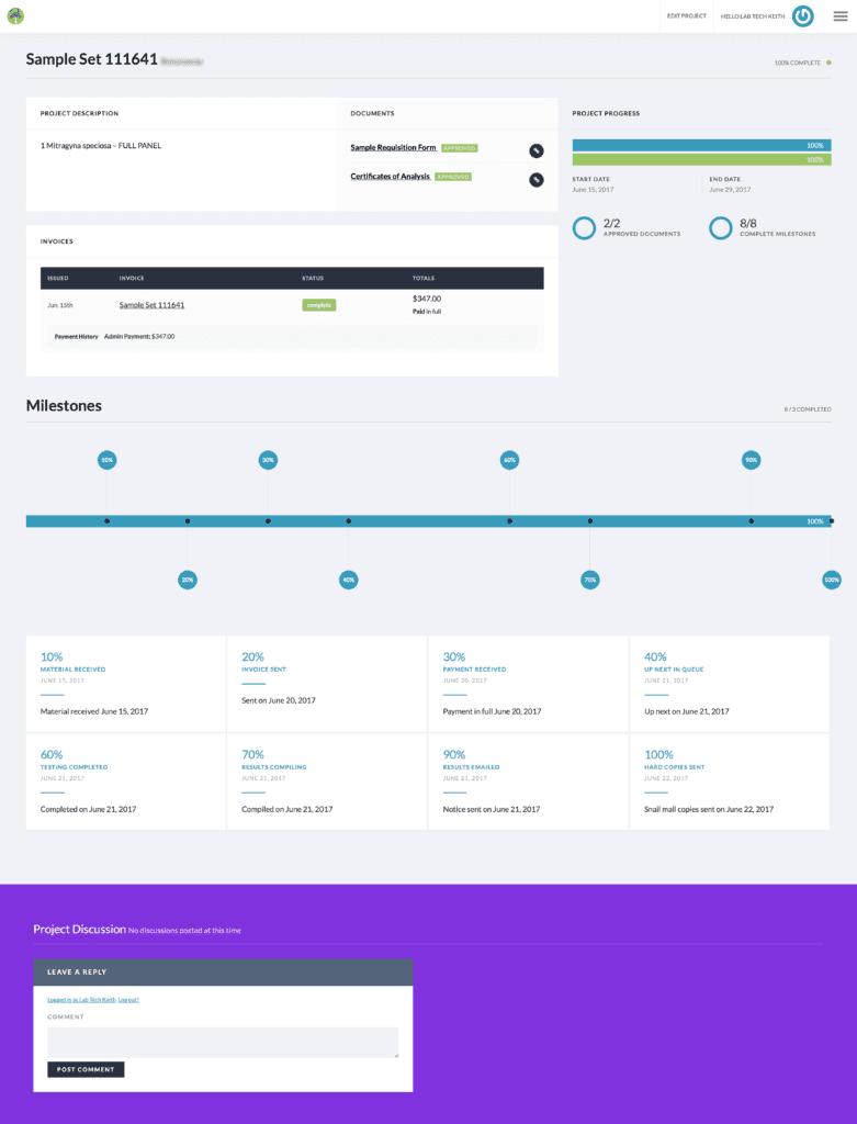 Wonderland-Labs Client Dashboard